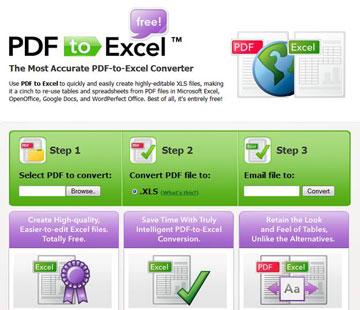 Đổi file pdf sang excel