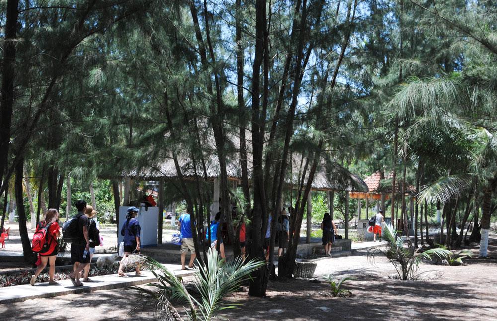 Khu du lịch Vịnh Hòa thu hút nhiều khách đến nghỉ ngơi, tắm biển