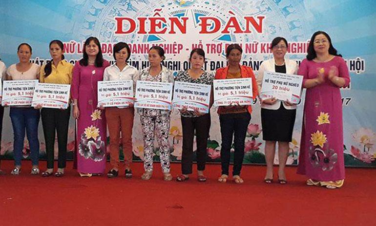 Hỗ trợ phụ nữ phát triển kinh tế gia đình