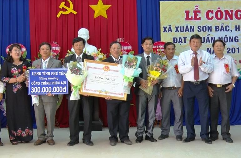 Xã Xuân Sơn Bắc (Đồng Xuân): Đón bằng công nhận xã đạt chuẩn nông thôn mới ( - 1557300031)