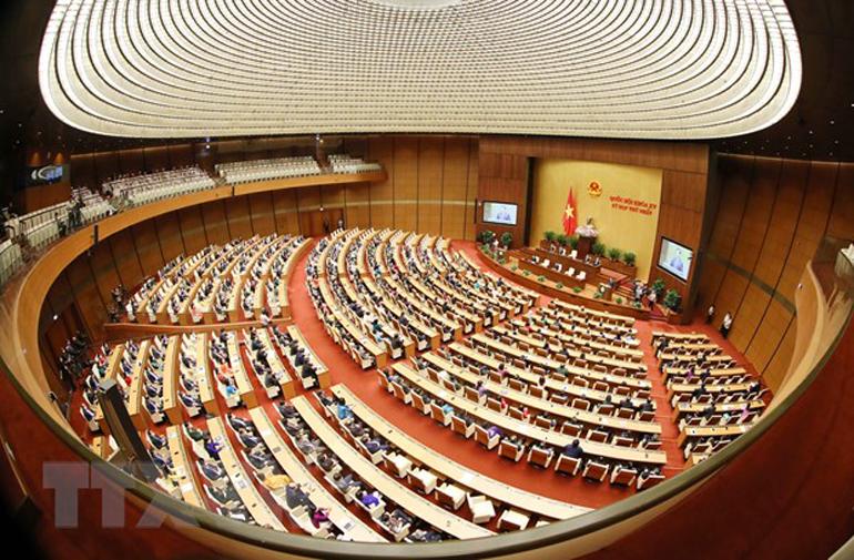 Toàn cảnh phiên bế mạc kỳ họp thứ nhất, Quốc hội khóa XV. Ảnh: TTXVN