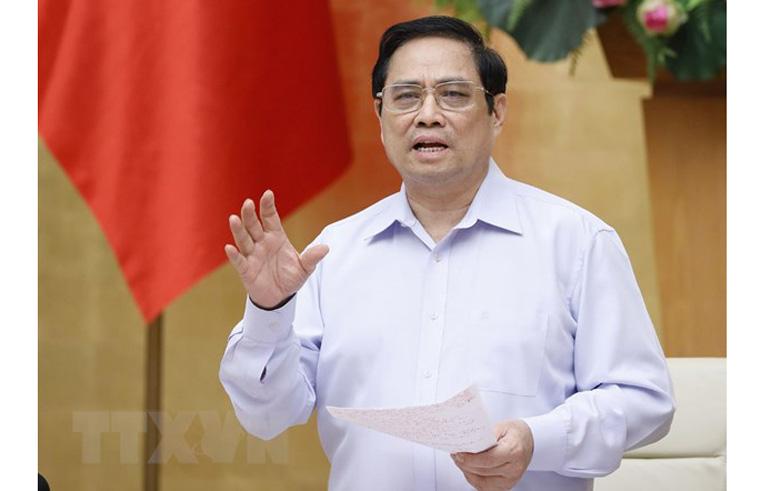 Thủ tướng Phạm Minh Chính phát biểu chỉ đạo. Ảnh: TTXVN